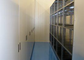Archivregal mit Schiebetüren für Forschungszentrum