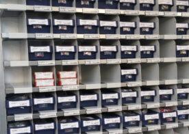 Regalbehälter für Kleinteilelagerung für Elektrotechnikunternehmen