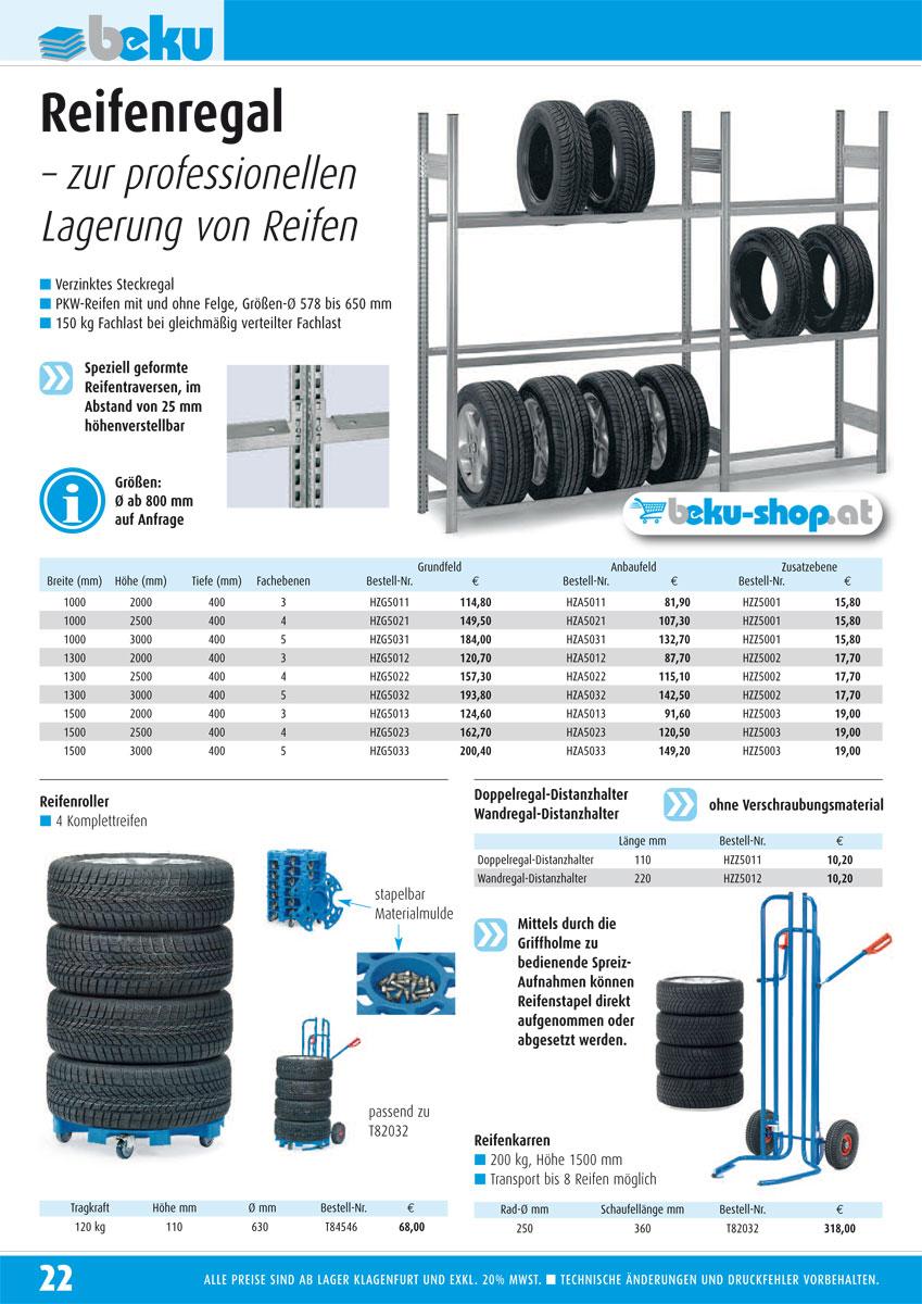 Reifenregale Produkte beku